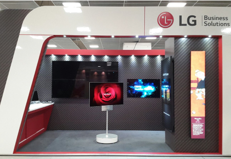 LG bespoke exhibition stand